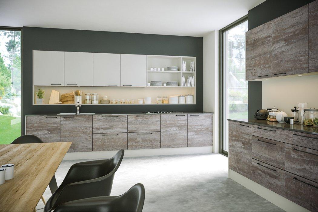Zurfiz Driftwood Light Grey Supermatt Light Grey Kitchen