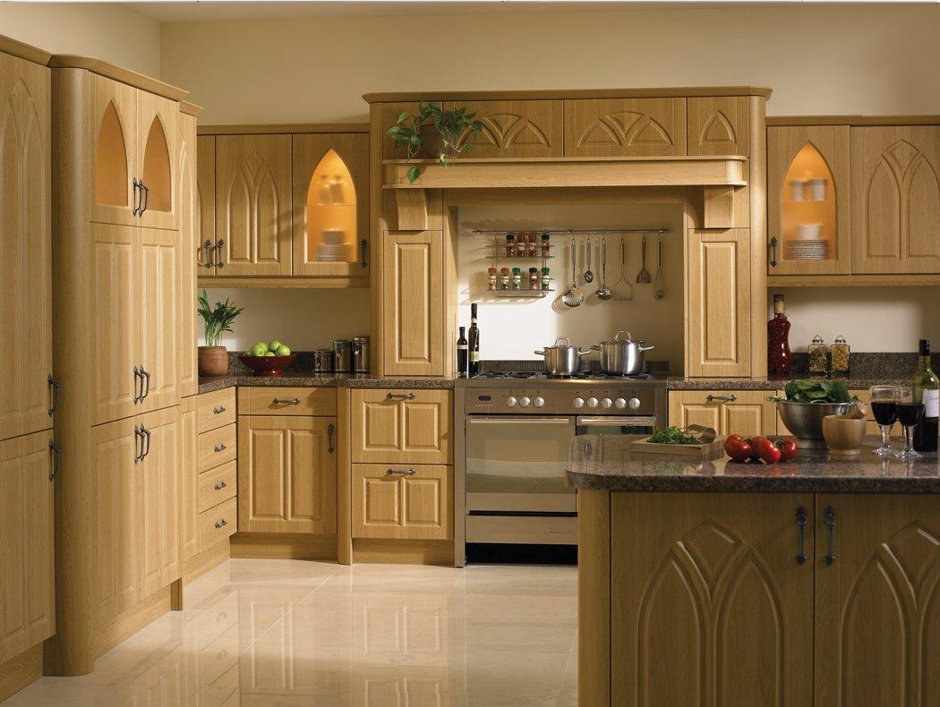 Lissa Oak Gothic Kitchen