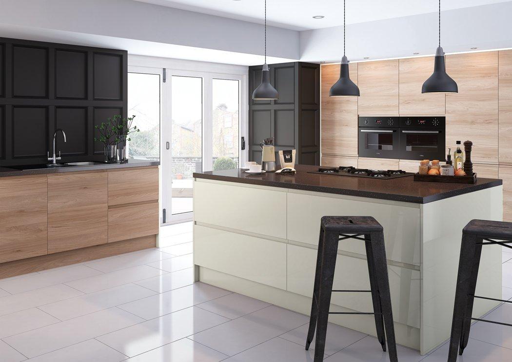 Pronto Malton Lava Elm Kitchen