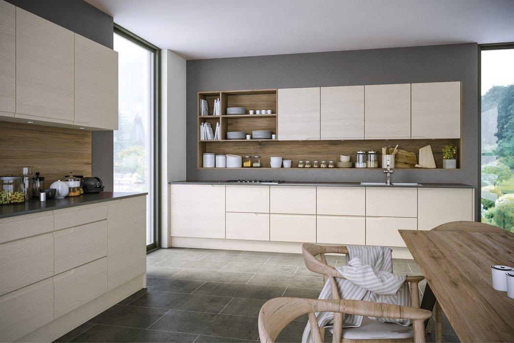 Oakgrain Cashmere Knebworth Kitchen