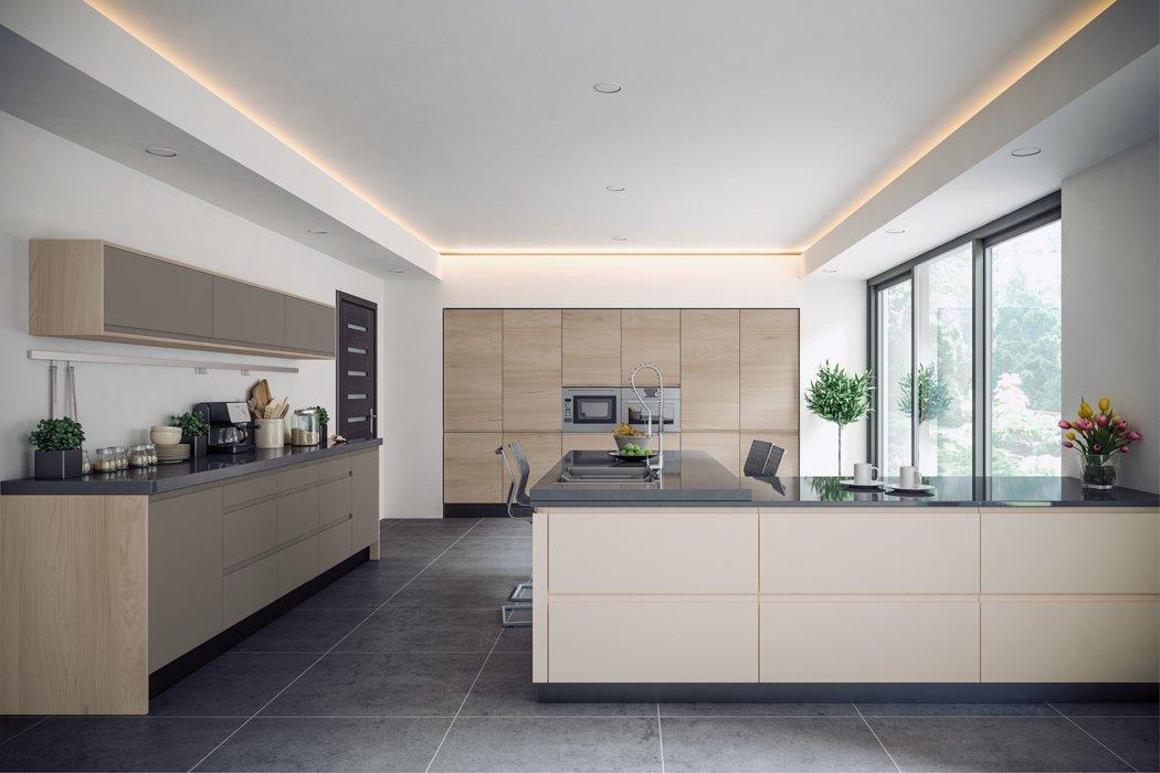 Pronto Malton Stone Elm Kitchen