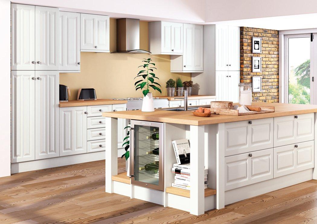 Super White Ash Milano Kitchen