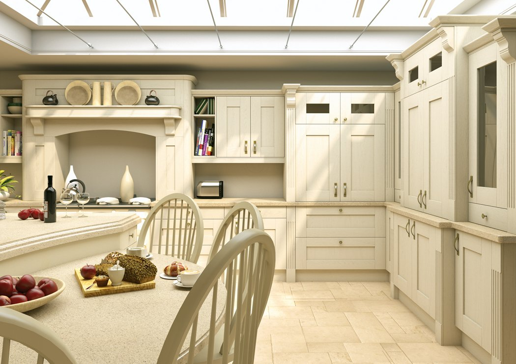 Pronto Rothwell Supermatt Light Grey Malton Lava Elm Kitchen